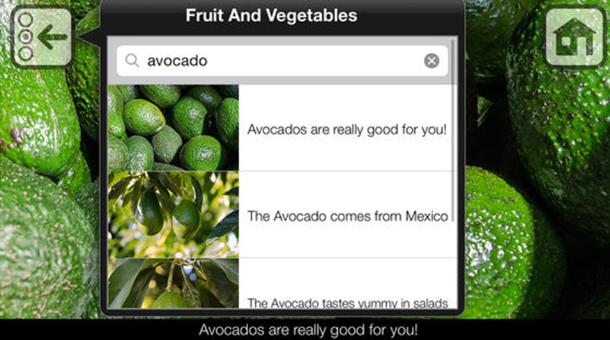 App Fruits and Vegetables