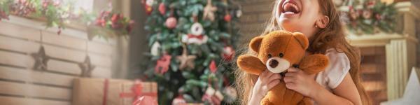 Nena contenta al Nadal