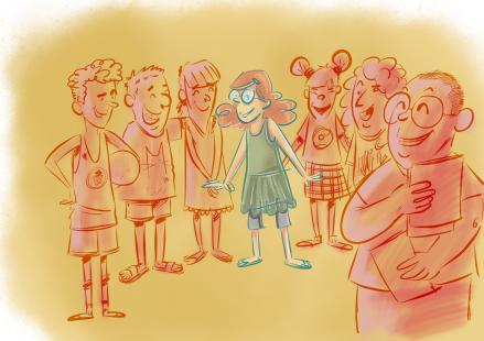 Ilustración del cuento: Nuevos amigos para Clementina