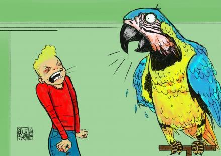 Il·lustració del conte: El silenci de la Lola