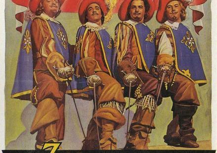 """Cartel de la película """"Los tres mosqueteros"""""""