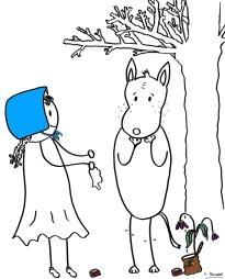 La caperucita azul y el lobo