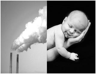 La contaminación aumenta el riesgo de que los bebés nazcan con poco peso