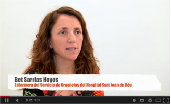 Bet Sarrias, infermera d'urgències de l'Hospital Sant Joan de Déu