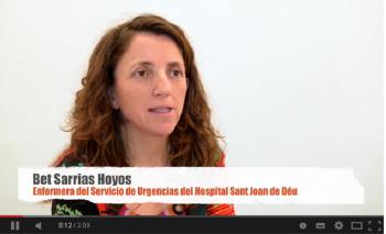 Bet Sarrias, infermera d'urgències de l'Hospital Sant Joan de Déu