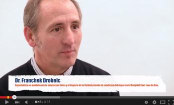 Dr. Franchek Drobnic, metge especialista de la Unitat privada de medicina de l'esport de l'Hospital Sant Joan de Déu