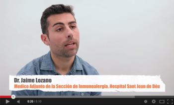 Dr. Jaime Lozano, Médico Adjunto de la Sección de Inmunoalergia del Hospital Sant Joan de Déu