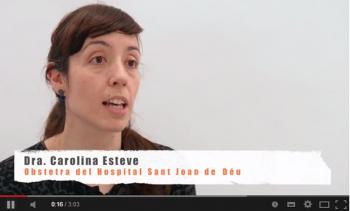 Dra. Carolina Esteve, Obstetra Hospital Sant Joan de Déu. Cures de salut en l'embaràs