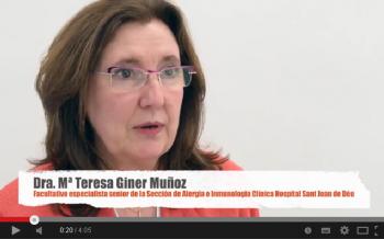 Doctora Giner, facultativo especialista del Servicio de Alergias