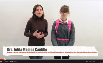 Dra. Julita Medina, especialista en Medicina Física y Rehabilitación del Servicio de Rehabilitación