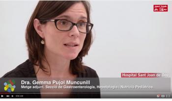 Dra. Gemma Pujol, Metge adjunt de la Secció de gastroenterologia, heptaologia i nutrició pediàtrica de l'Hospital Sant Joan de Déu