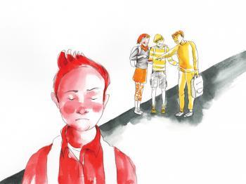 """Il·lustració del conte """"Àlex, el nen osset"""""""