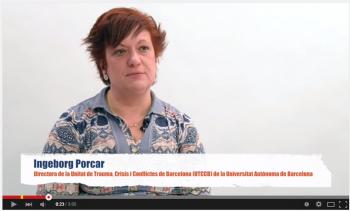 Ingeborg Porcar, directora de la Unidad de Trauma, Crisis y Conflictos de Barcelona (UTCCB)