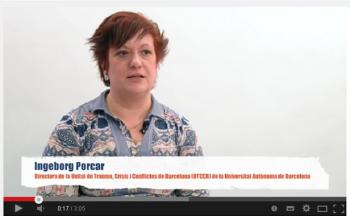Ingeborg Porcar. Directora de la Unidad de Trauma, Crisis y Conflictos de Barcelona (UTCCB)