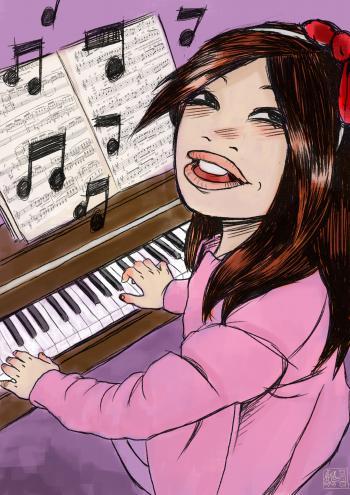 Ilustración del cuento: La música más bella