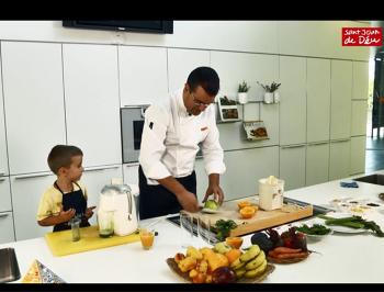Imagen del vídeo preparando la receta de zumos