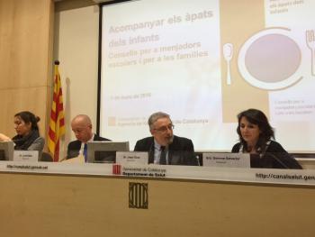 Roda de premsa de la presentació de l'informe