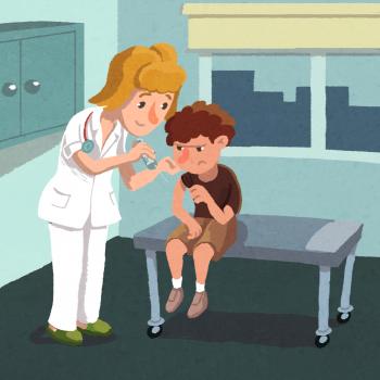 "Il·lustració del conte ""No m'agraden les vacunes"""