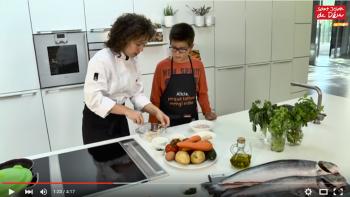 Fotograma de la videoreceta de hamburguesa de pescado