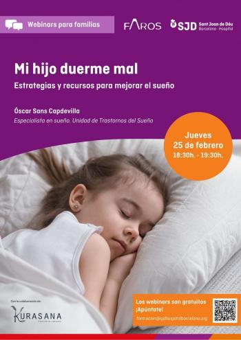 Webinar: Mi hijo duerme mal: estrategias y recursos para mejorar el sueño