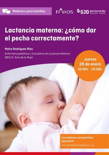Webinar: Lactància materna: com donar el pit correctament?
