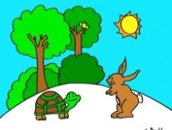 La tortuga Tomasa y el conejito que corría demasiado
