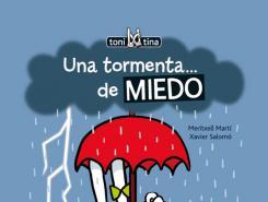 Portada cuento: Una tormenta... de MIEDO