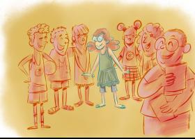 Il·lustració del conte: Nous amics per a la Clementina