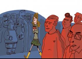 Il·lustración del conte: La doble vida de la Martina