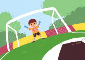 Ilustración del cuento ¡Yo quiero marcar gol!