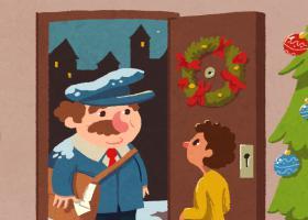 """Ilustración del cuento """"El cuento de Navidad"""""""