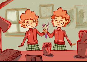 Ilustración del cuento: hermanas para todo