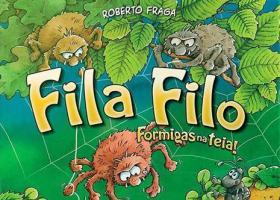 Caja y tablero del juego Fila Filo