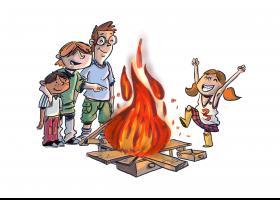 Il·lustració conte: La foguera del Joan