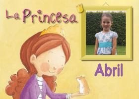 """Portada del llibre """"La Princesa Abril nos habla de la moderación"""""""