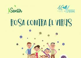 """Portada del cuento """"Rosa contra el virus"""""""