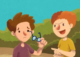 """Ilustración del cuento """"Las gafas de Martín"""""""