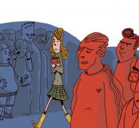 Ilustración del cuento: La doble vida de Martina