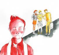 """Ilustración del cuento """"Álex, el niño osito"""""""