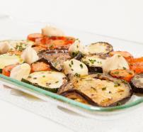 Receta mosaico de verduras