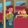 """Ilustración del cuento """"Félix, el niño que no quería lavarse"""""""